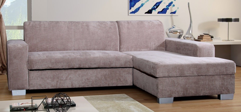 Enjoyable Miami Fabric Corner Sofa Bed Rhf Fernando Beige Caraccident5 Cool Chair Designs And Ideas Caraccident5Info