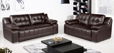 Roco Leather Sofa Set 3 + 2 Seater Brown, Delivery in 4 weeks