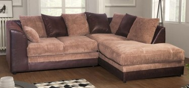 Dylan Fabric Corner Sofa RHF Brown And Coffee Portobello Cord