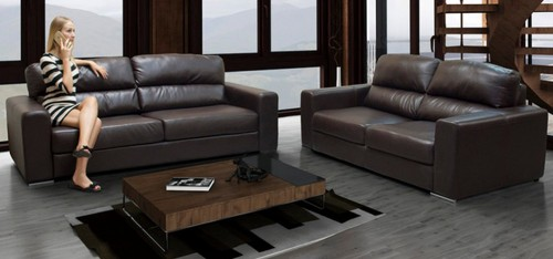 Naples 3 + 2 Seater Brown