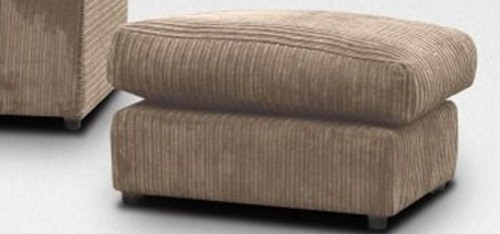 Dylan Footstool Coffee Jumbo Cord