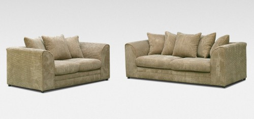 Dylan 3 + 2 Seater Coffee Jumbo Cord