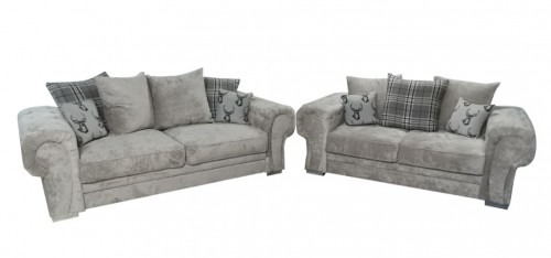 Verona Fabric Sofa Set 3 + 2 Seater Mink