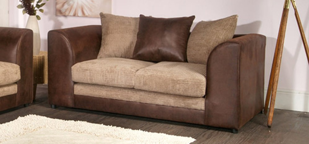 Dylan 3 + 2 Seater Brown And Coffee Portobello Cord