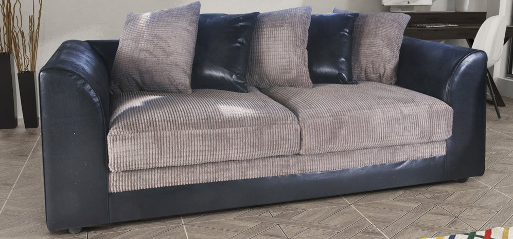 Dylan 3 + 2 Seater Black And Grey Portobello Cord